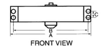 Door Closer hole spacing diagram